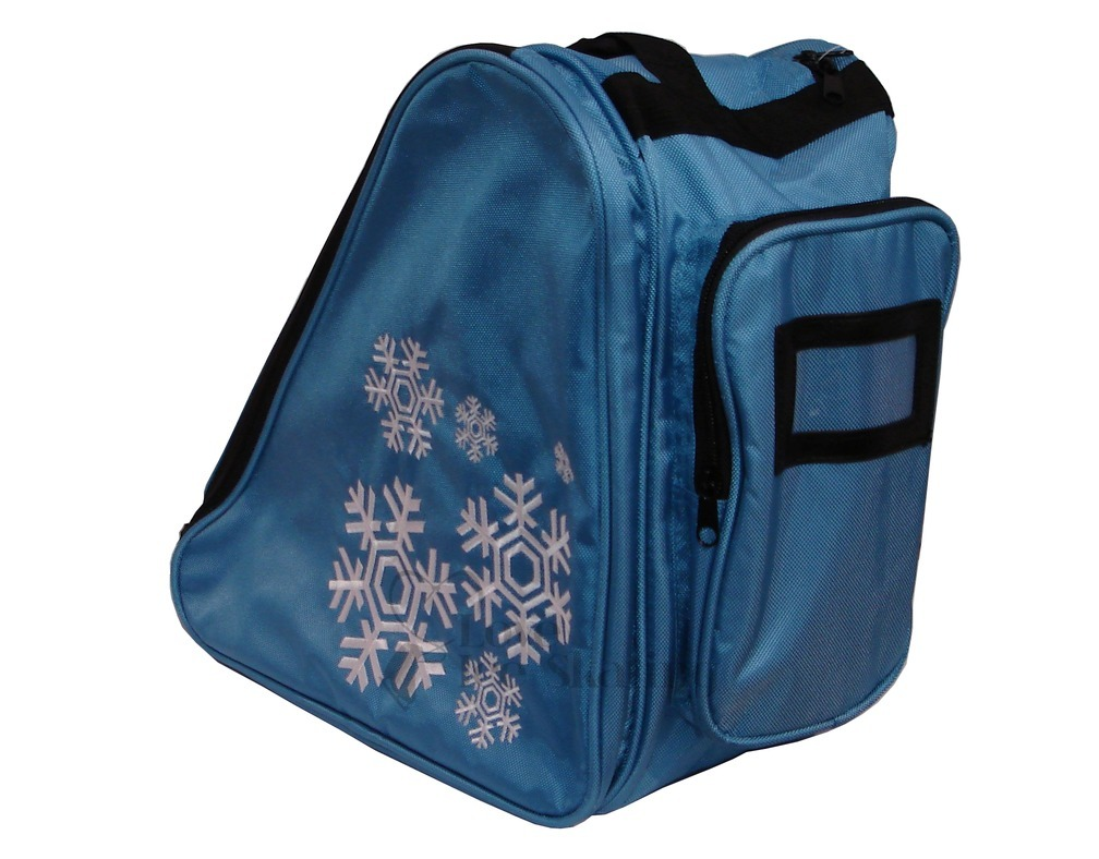 Snowflake Design Deluxe Skate Bags Love Ice Skating