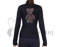 Ice Skating Polartec Fleece Jacket Rhinestone Bear