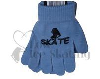 Ice Skate Logo Stamped Magic Stretch Gloves