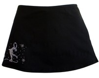 Chloe Noel A-Line Ice Skirt with Layback Rhinestones
