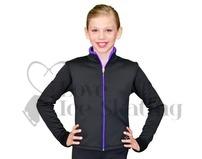 Chloe Noel J48 Ice Skating Jacket Black w Purple