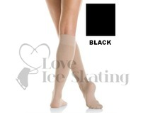 Mondor Knee High Meryl Ice Skating Socks BLACK 104