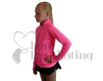 JIV  Ladies Figure Ice Skating Training Jacket Hot Pink