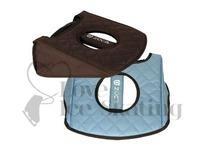 Zuca Seat Cushion Reversible Turquoise / Brown