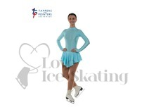 Ice Skating Dress Aqua Blue by Tappers and Pointers