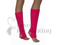 Fuchsia Leg Warmers with Rhinestones