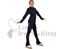 Figure Skating Leggings by Chloe Noel Purple Swirl with Swarovski Crystals