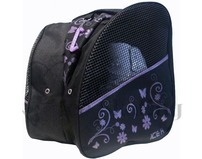 Ice Skate Bag Backpack Purple Flowers Print
