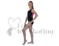 Chloe Noel Leotard GL212 Black with Contrast Binding in Fuchsia