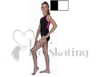 Chloe Noel Leotard GL212 Black with Contrast Binding in White