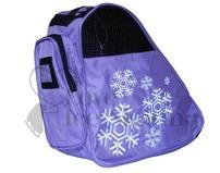 Snowflake Design Deluxe Purple Ice Skate Bag