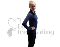 JIV Figure Skating Training Jacket Dark Blue