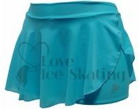 Intermezzo Blue Ice Figure Skating shorts with skirt Skort