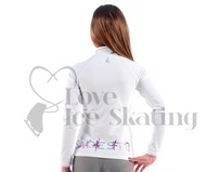 Sagester White Ice Skating Jacket with Sagester Glitter Design