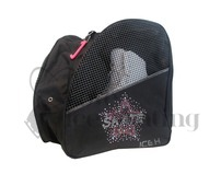 Black Ice Skating Bag Backpack with Rhinestone Skate