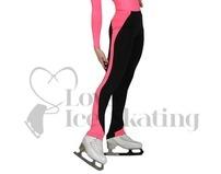 JIV Girls Ice Skating Training Leggings Hot Pink/black