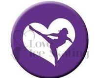 Figure Skating Spiral Purple Heart badge