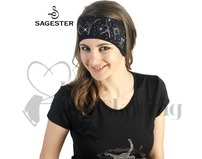 Sagester  526 Black Figure Skating Swarovski Crystal Headband