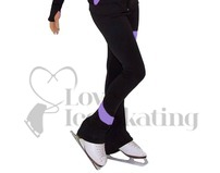 JIV Figure Ice Skating Leggings - Black / Lavender