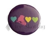 3 Hearts and Skates Badge