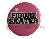 Figure Skater on Pink Badge