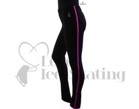 Sagester 424 Ice Skating Leggings Black with Fuchsia Metallic Trim Size 3