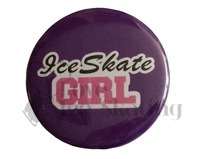 Ice Skate Girl on Purple Badge