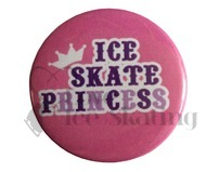 Ice Skate Princess on Pink Badge