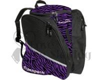 Transpack Figure Skating Bag Purple and Black Zebra