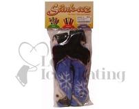 Stinkeez Ice Skate Lavender Dolphin  Boot Deodoriser Black & Blue