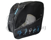 Ice Skating Bag Backpack with  Rhinestones Figure Skaters