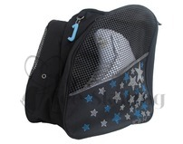 Ice Skating Bag Backpack with Blue & Clear Rhinestones