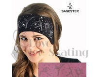 Sagester 526 Pink Ice Skating Headband with Swarovski Crystal Skaters