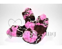 Fuzzy Soakers Giraffe with Pink & Bows