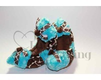 Fuzzy Soakers Giraffe Blue with Bows