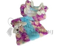 Chloe Noel Blue & Purple Swirl Soakers with Towel Set