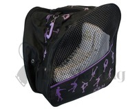 Ice Skate Backpack Bag Purple Glitter Ice Skaters