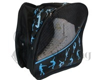 Ice Skating Backpack Bag Blue Glitter Ice Skaters