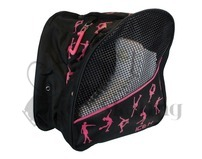 Figure Skate Backpack Bag Cerise Pink Glitter Ice Skaters