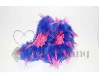 Fuzzy Soakers Blue & Hot Pink Crazy Fur Blade Covers