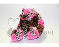 Fuzzy Soakers Cheetah and Pink Fur and Cheetah Bows
