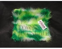 Fuzzy Soaker Towel Glitter Crazy Fur White and Multi Green
