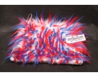 Red, White & Blue Crazy Fur Fuzzy Soaker Skate Towel