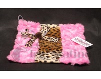 Fuzzy Soaker Skate Towel Cheetah Print with Pink Fur