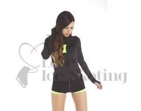 Thuono Bioceramic Long Sleeve Ice Skating Training Top Neon Yellow