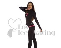 Thuono Bioceramic Long Sleeve Ice Skating Training Top Neon Pink