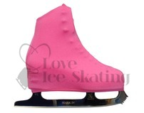 Neon Pink Figure skating Boot Covers Adult