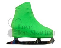 Neon Green Figure skating Boot Covers Adult