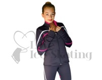 Ice Skating Jacket with White & Fuchsia J618F