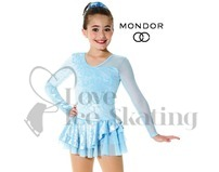 Mondor 2971 Ice Blue Damask Ice Skating Dress